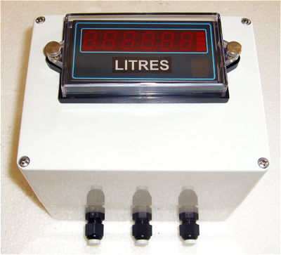 Wall mounting box for panel meter